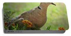 Portable Battery Charger featuring the photograph Marigold Dove by Debbie Portwood