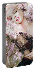 Marilyn Cherry Blossom B Portable Battery Charger