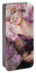 Marilyn Cherry Blossoms Pink Portable Battery Charger