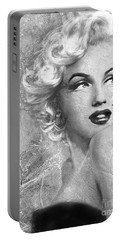 Marilyn Danella Ice Bw Portable Battery Charger