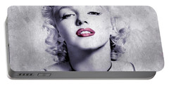 Marilyn Monroe - 0102b Portable Battery Charger by Variance Collections