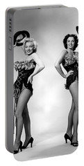 Marilyn Monroe And Jane Russell Portable Battery Charger by American School