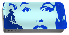 Marilyn Monroe Blue Pop Art Portrait Portable Battery Charger