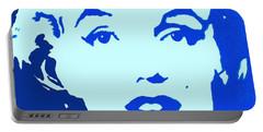 Marilyn Monroe Blue Pop Art Portrait Portable Battery Charger by Bob Baker