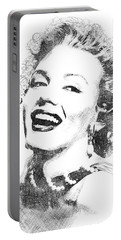 Marilyn Monroe Bw Portrait Portable Battery Charger