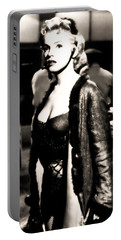 Portable Battery Charger featuring the photograph Marilyn Monroe Dressed To Trill In Bus Stop by R Muirhead Art