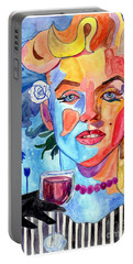 Marilyn Monroe Drinking Wine Portable Battery Charger