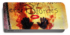 Portable Battery Charger featuring the photograph Marilyn Monroe Gentlemen Prefer Blondes 20160105 by Wingsdomain Art and Photography