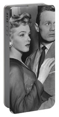 Portable Battery Charger featuring the photograph Marilyn Monroe In Don't Bother To Knock by R Muirhead Art