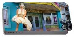 Marilyn Monroe In Front Of Tropic Theatre In Key West Portable Battery Charger by David Smith