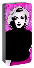 Marilyn Monroe In Hot Pink Portable Battery Charger