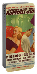 Marilyn Monroe In The Asphalt Jungle Movie Poster Portable Battery Charger