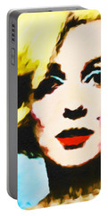 Portable Battery Charger featuring the painting Marilyn Monroe by Joan Reese