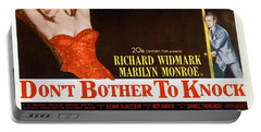 Portable Battery Charger featuring the photograph Marilyn Monroe Movie Poster Don't Bother To Knock by R Muirhead Art