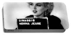 Marilyn Monroe Mugshot In Black And White Portable Battery Charger