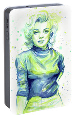 Marilyn Monroe Portable Battery Charger by Olga Shvartsur