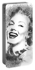 Marilyn Monroe Scribbles Portrait Portable Battery Charger