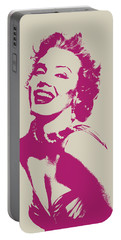 Marilyn Monroe Vector Pop Art Portrait Portable Battery Charger by Design Turnpike
