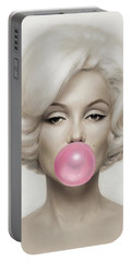 Marilyn Monroe Portable Battery Charger by Vitor Costa