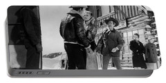 Portable Battery Charger featuring the photograph Marilyn Monroe Western Scene by R Muirhead Art