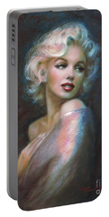 Marilyn Romantic Ww Dark Blue Portable Battery Charger