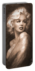 Marilyn Ww Sepia Portable Battery Charger