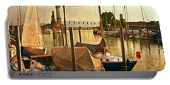 Marina At Golden Light - Digital Paint Portable Battery Charger