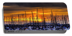 Marina At Sunset Portable Battery Charger