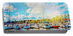 Marina In The Summertime Portable Battery Charger