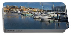 Marina Of Vilamoura At Afternoon Portable Battery Charger by Angelo DeVal