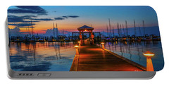 Marina Sunrise Portable Battery Charger by Tom Claud