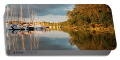 Portable Battery Charger featuring the photograph Marina Sunset 10 by Geoff Smith