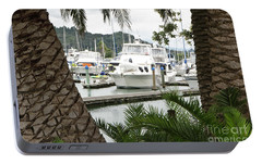 Portable Battery Charger featuring the photograph Marina View by Yurix Sardinelly