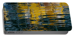 Marina Water Abstract 2 Portable Battery Charger by Fraida Gutovich