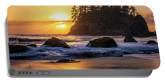 Portable Battery Charger featuring the photograph Marine Layer Sunset At Trinidad, California by John Hight