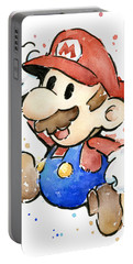Mario Watercolor Fan Art Portable Battery Charger