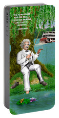Mark Twain On The Mississippi Portable Battery Charger
