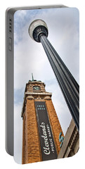 Market Clock Tower Portable Battery Charger by Dale Kincaid