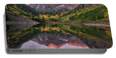 Maroon Bells At Sunrise Portable Battery Charger