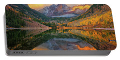 Maroon Bells Autumn Reflections Portable Battery Charger