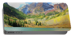 Portable Battery Charger featuring the photograph The Maroon Bells Reimagined 2 by Eric Glaser
