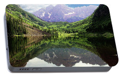 Portable Battery Charger featuring the photograph Maroon Bells  by Jerry Battle