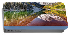 Maroon Bells At Dawn Portable Battery Charger