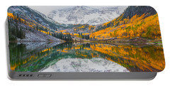 Maroon Bells Seasonal Clash Portable Battery Charger by Darren White