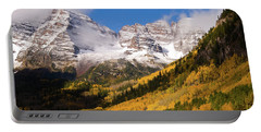 Portable Battery Charger featuring the photograph Maroon Bells by Steve Stuller