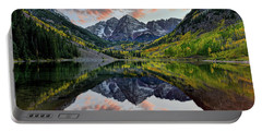 Maroon Bells Sunset Portable Battery Charger