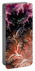 Maroon, Black And Orange Fractal Design Portable Battery Charger