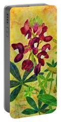 Maroon Bluebonnet Portable Battery Charger by Hailey E Herrera