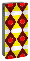Maroon Diamonds Portable Battery Charger