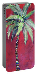 Maroon Palm Tree Portable Battery Charger